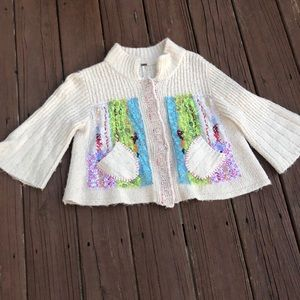 Patchwork Free People Sweater